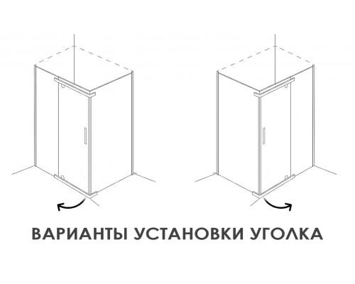 Душевое ограждение AB214-120  1200*900*2000 (без поддона) прозрачное стекло