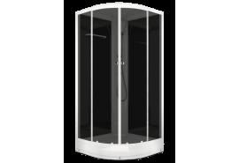 Душевая кабина NEW Домани Delight (88) 80*180 (НИЗКИЙ ПОДДОН, без пульта, черн.стенки, тонир.стекла)
