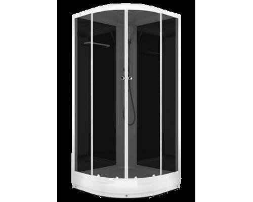 Душевая кабина NEW Домани Delight(99) 90*90 (НИЗКИЙ ПОДДОН, без пульта, черн.стенки, тонир.стекла)