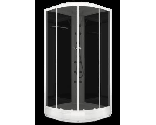 Душевая кабина Домани Delight (99) 90*90 (НИЗКИЙ ПОДДОН ,пульт, черн.стенки, тонированные стекла)