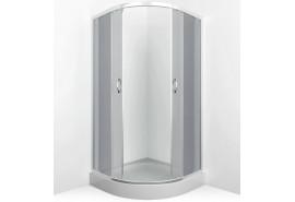 Душевое ограждение ER0509 - C4 900*900*1950 низкий поддон,тонированное стекло