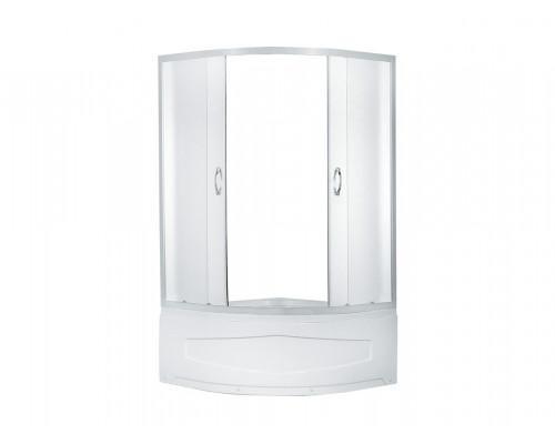 Душевое ограждение ER0509T- C3 900*900*1950 высокий поддон, светлое стекло