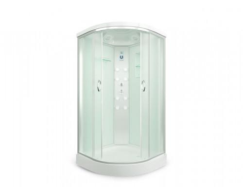 Душевая кабина ER4510P-C3 1000*1000*2150 низкий поддон, светлое стекло