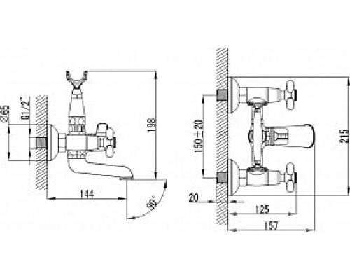 Смеситель для ванны  с коротким изливом Iddis Jeals JEASB02i02