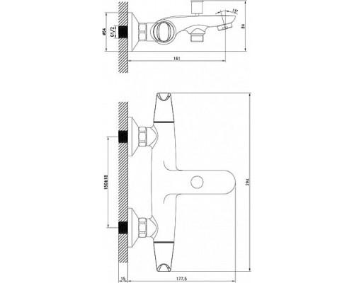 Смеситель для ванны с коротким изливом Iddis Funk FUNSB00i02