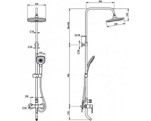 Душевой гарнитур со смесителем SENSB3Fi06