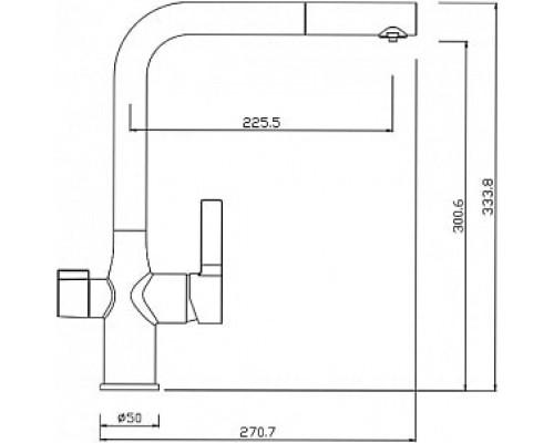 Смеситель для кухни с каналом для фильтрованной воды Iddis Pure PURSBFLi05