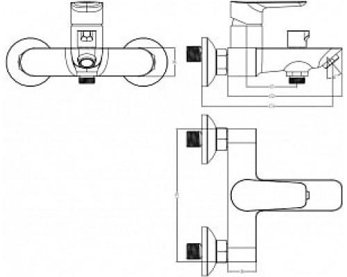 Смеситель для ванны Iddis Cloud CLOSB02I02WA