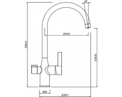 Смеситель с каналом для фильтрованной воды Iddis Pure PURBNFJi05