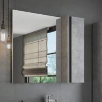 "Зеркало-шкаф ""Эдинбург-90"" бетон светлый COMFORTY."