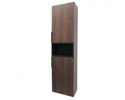 "Шкаф-колонна ""Франкфурт 40"" дуб шоколадно-коричневый COMFORTY."