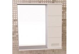 """Зеркало-шкаф """"Модена-60"""" белый глянец COMFORTY."""