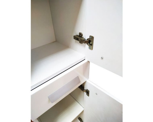 """Шкаф-колонна """"Модена-35"""" белый глянец COMFORTY."""