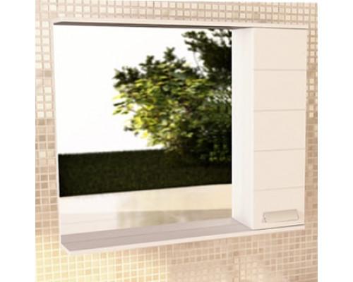 """Зеркало-шкаф """"Модена-90"""" белый глянец COMFORTY."""
