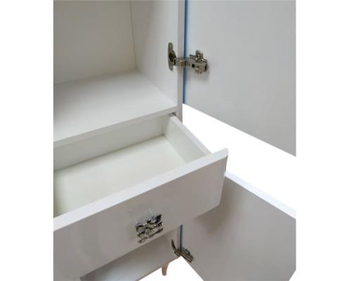 "Шкаф-колонна ""Монако-40"" белый глянец(левая) COMFORTY."