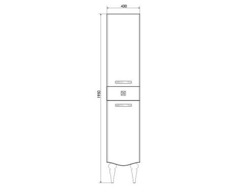 "Шкаф-колонна ""Монако-40"" белый глянец(правая) COMFORTY."