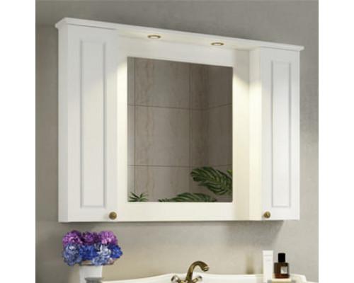 """Зеркало-шкаф """"Палермо-120"""" белый глянец COMFORTY"""