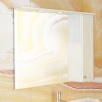 """Зеркало-шкаф """"Сочи-100"""" белый глянец Comforty."""