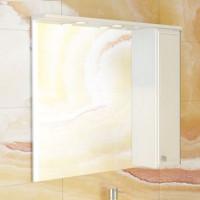 """Зеркало-шкаф """"Сочи-85"""" белый глянец Comforty."""