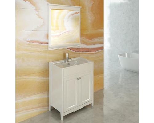 """Зеркало """"Тбилиси-70"""" белый глянец Comforty."""