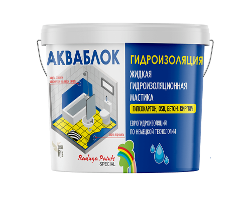 Мастика гидроизоляционная Aquablock Радуга-021 14кг
