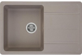 Мойка кухонная Аманда 780*510*211, серый шелк Акватон