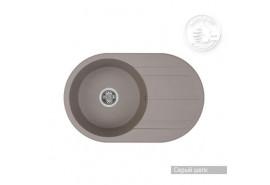 Мойка кухонная Амира 780*500*180, серый шелк Акватон