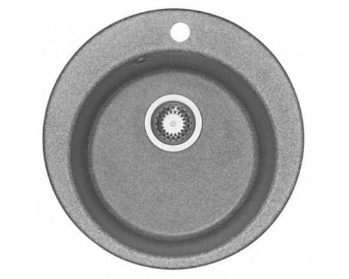 Мойка кухонная Иверия круглая 480мм серый Акватон