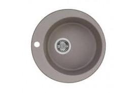 Мойка кухонная Иверия круглая 480мм серый шелк Акватон