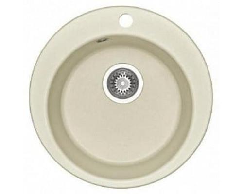 Мойка кухонная Иверия круглая 480мм жемчуг Акватон