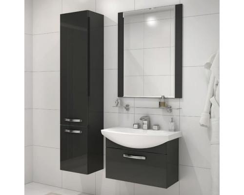 Зеркало Ария 80 черный глянец AQUATON