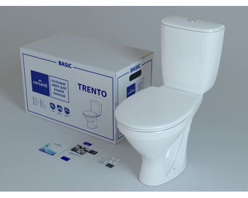 Унитаз-компакт CERSANIT TRENTO TR011 3/6 с кр.термопласт Lifting, белый, Сорт1