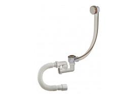 """Сифон""""Орио""""для ванны регул. полуавтомат, с перел. с гибкой трубой  А-28089"""