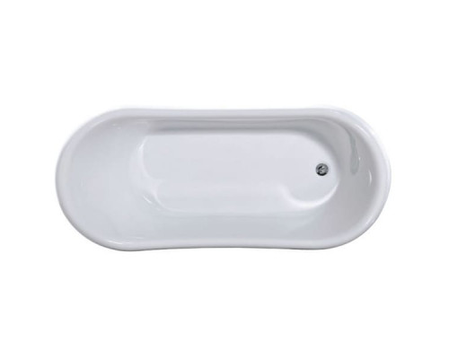 Ванна акриловая РЕТРО 9009 ножки хром, 1850*800*800мм